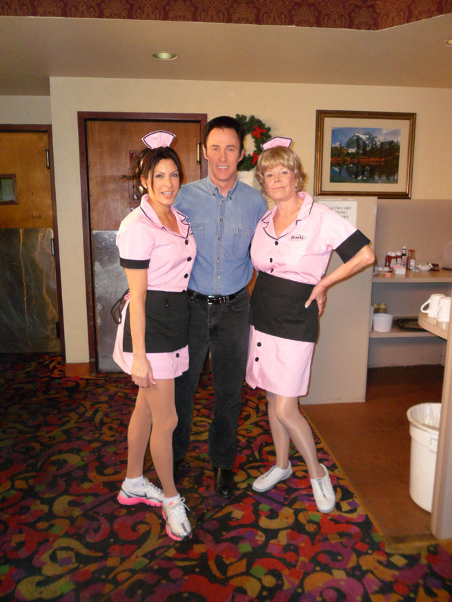 Lance with Waitresses